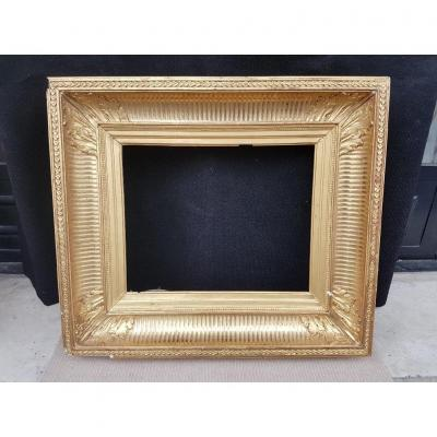 19th Golden Frame In Canals Napoleon III Period