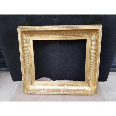 "19th Century Gilded Frame Called ""with Canals"" From The Napoleon III Period"