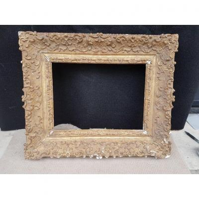 17th Style Patinated Golden Frame