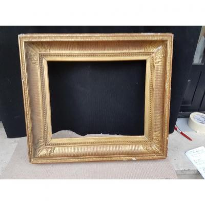 "Golden Frame Known As ""canal"" From Napoleon III Period"