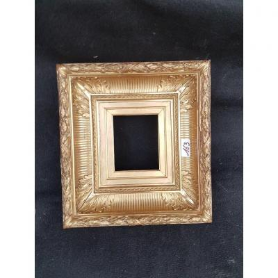 "Small Golden Frame From The 19th Century Known As ""with Canals"""