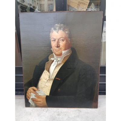 Portrait Of A Man From The Restoration Period (81 Cm X 65 Cm)
