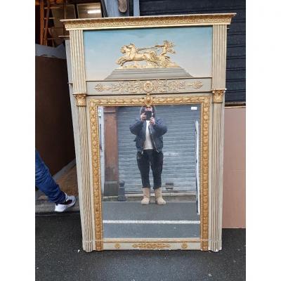 Miroir Trumeau Néo-classique Sur Le Thème  d'Apollon Vers 1880 ( 165 Cm X 115 Cm )