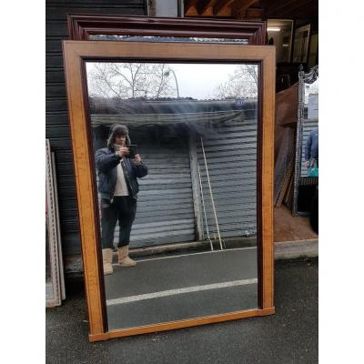 Miroir d'époque Charles X En érable Moucheté Et Palissandre ( 155 Cm X 109 Cm )