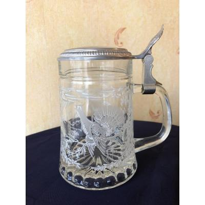 Bohemian Crystal Beer Mug.