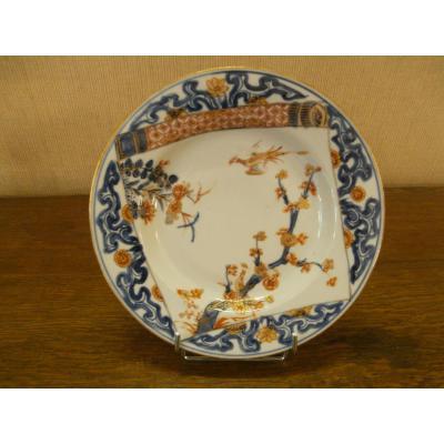 Assiette En Porcelaine De Chine, 18ème.