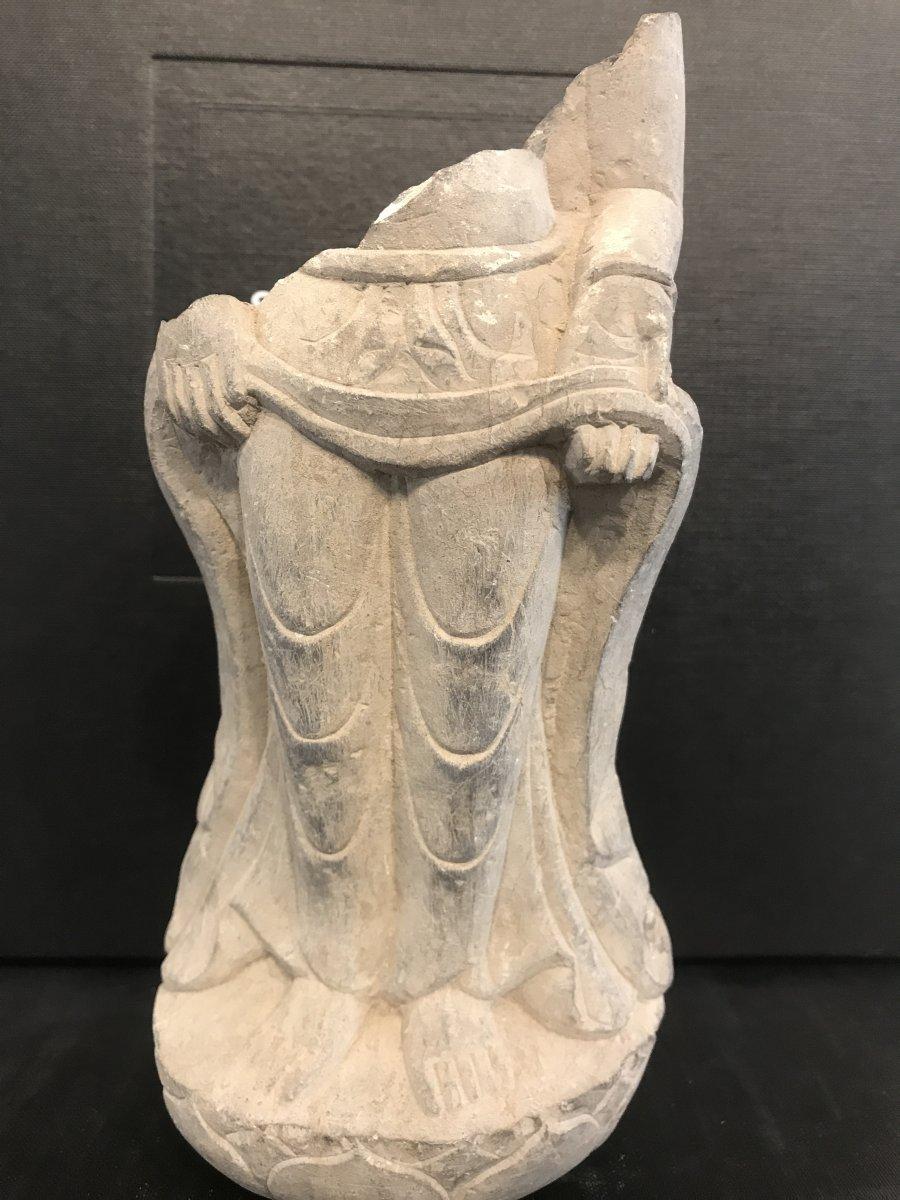 Élément De Statue En Pierre/ Chine Avant XVI Eme