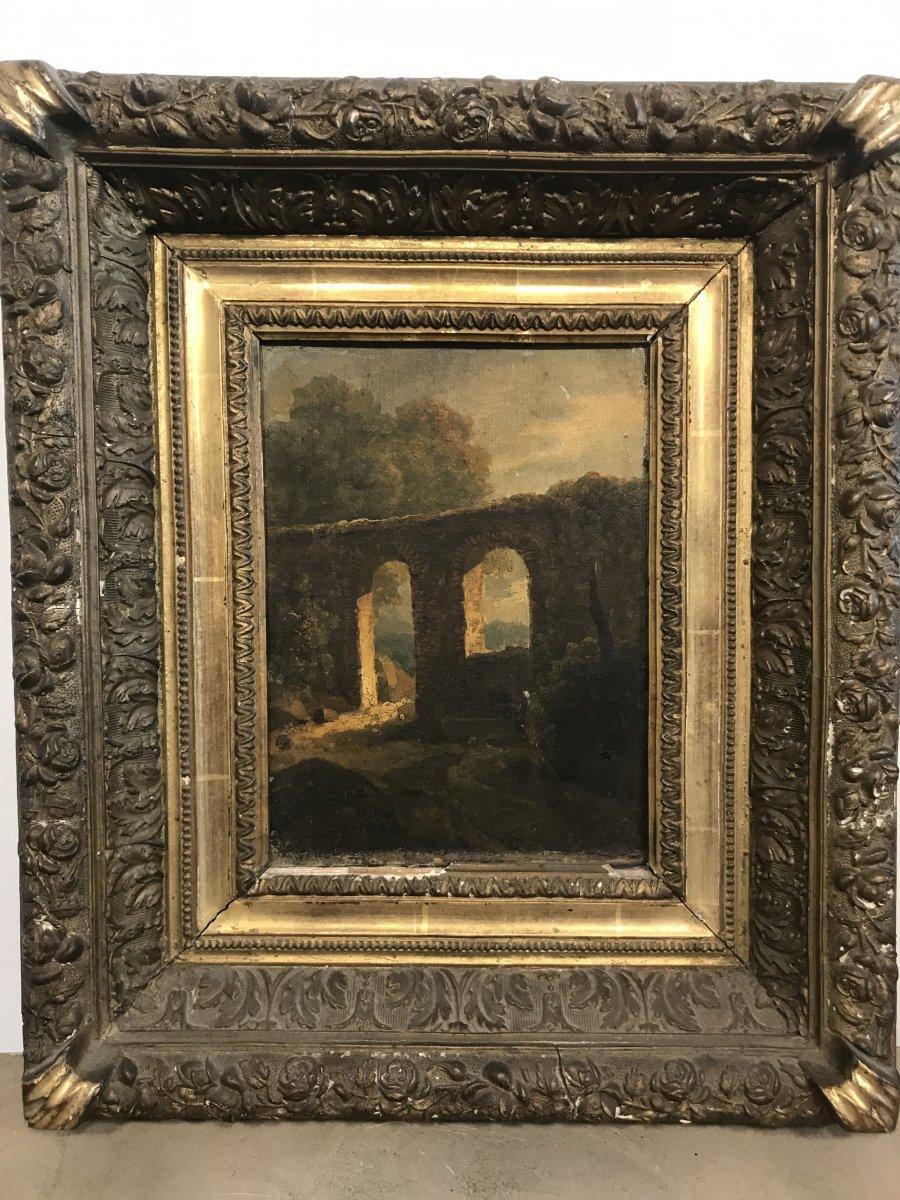 Painting XIX Eme / Landscape Of Ruins