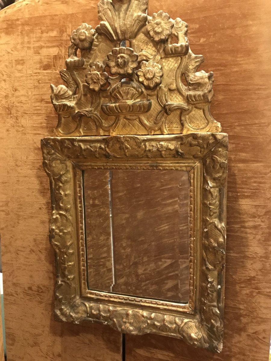 Miroir Doré Fronton époque Régence