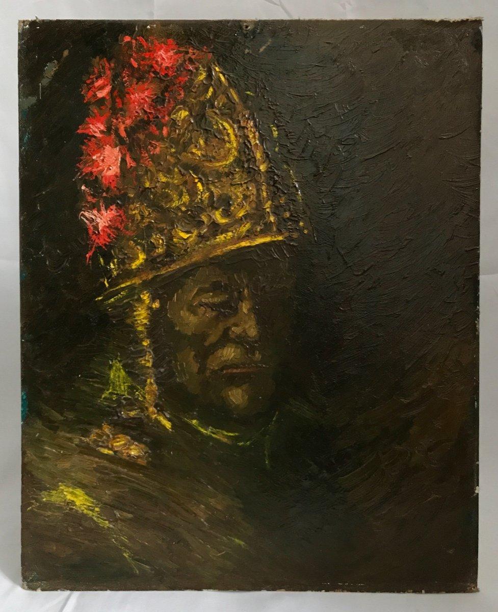 Painting In The Taste Of The Man In The Golden Helmet