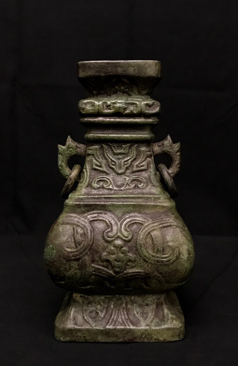 Chinese Bronze Vase In The Taste Of Archaic Bronzes.