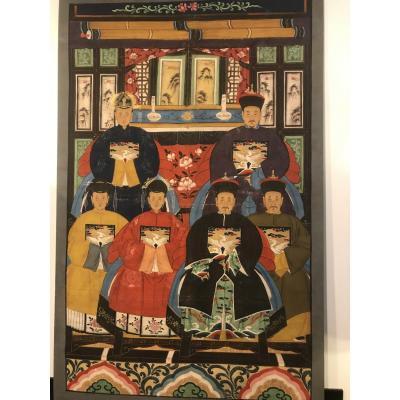 Peinture Chinoise sur toile avant 1911