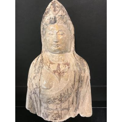 Fragment De Stèle Bouddha Chine