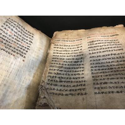 Bible Éthiopienne Manuscrite XIX Eme