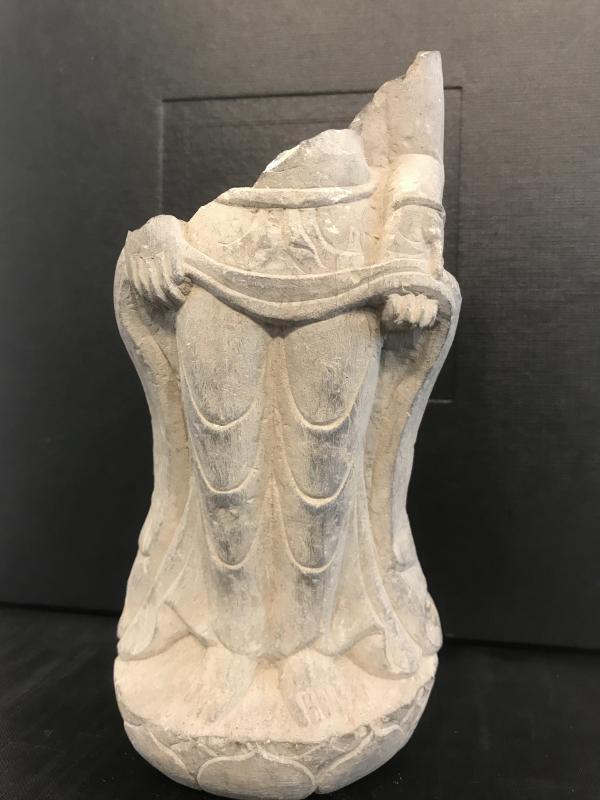Élément De Statue En Pierre/ Chine Avant XVI Eme-photo-2