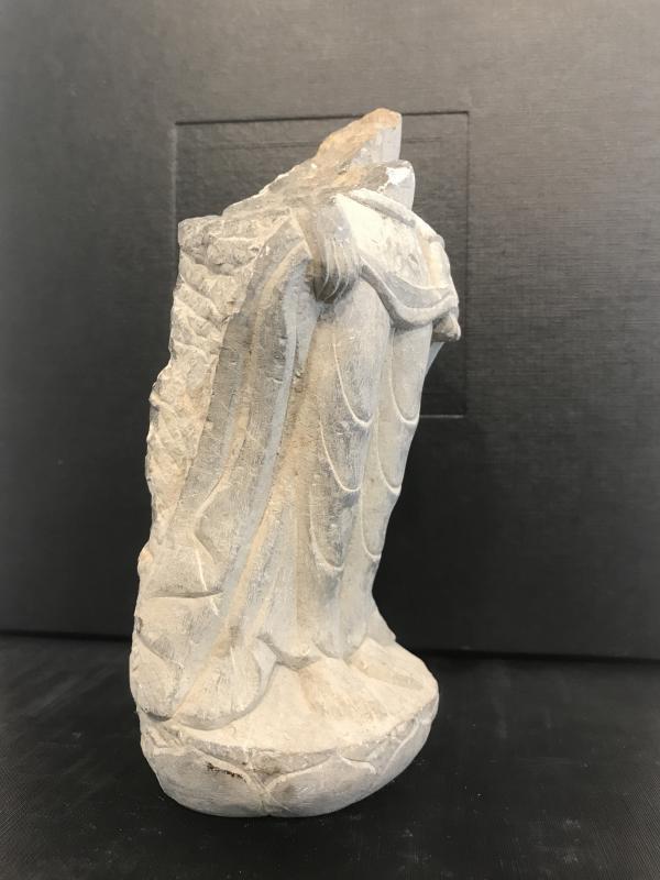 Élément De Statue En Pierre/ Chine Avant XVI Eme-photo-3