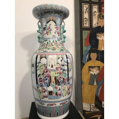Large Canton Vase Early XX Th