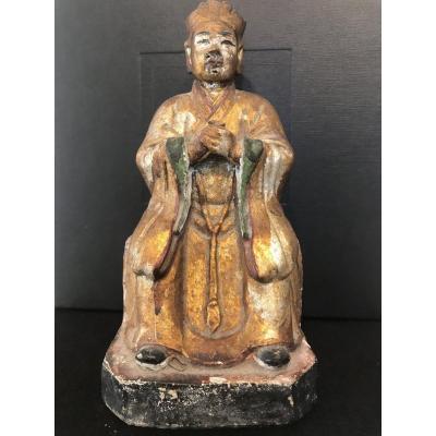 Statuette De Sage Ou De Dignitaire/ Chine  XIX Eme