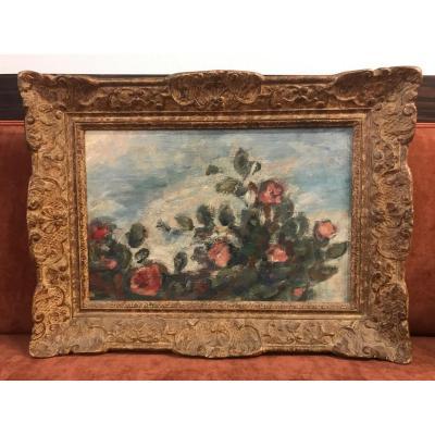 Peinture De Fleurs/roses XVIII Eme