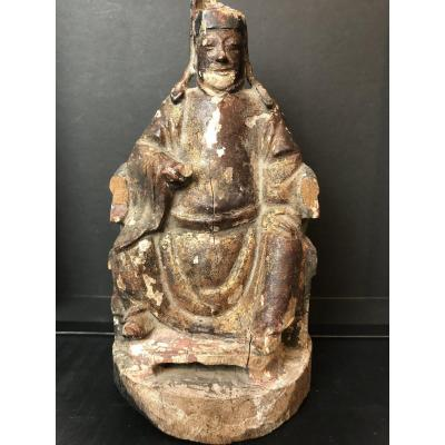 Chinese Dignitary In Golden Wood Period