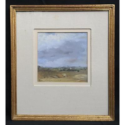 Peinture Sur Papier Paysage  Afrique Du Nord Années 50/60