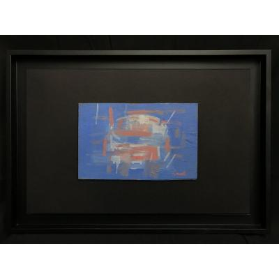 Abstract / Blue Painting By Painter Daniel Ravel (1915-2002)