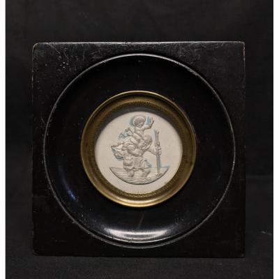 Medallion Representative Saint-christophe XIX Eme