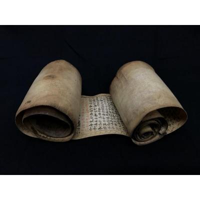 Parchemin Manuscrit rouleau magique Ethiopie