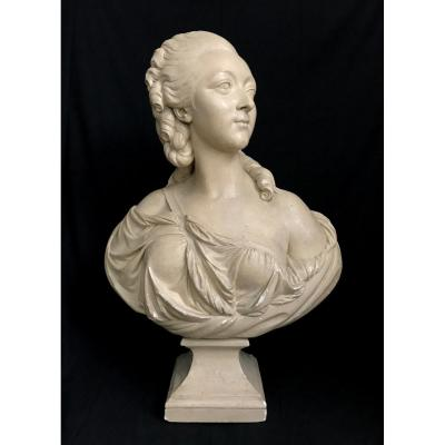 Very Large Bust After Pajou Of The Comtesse Du Barry