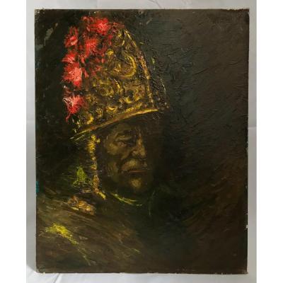 Peinture Dans Le Goût De l'Homme Au Casque d'Or