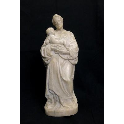 Sculpture représentant un  personnage à l'Antique Marbre de Carrare Italie XVII Eme
