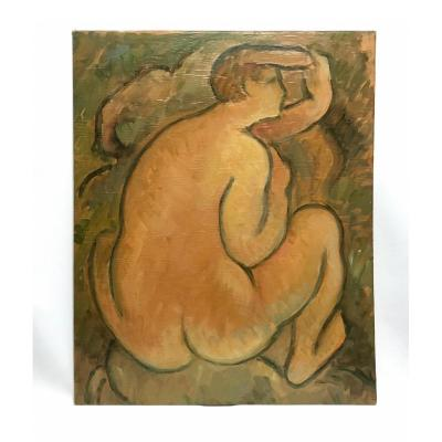 Painting Naked Woman Sitting