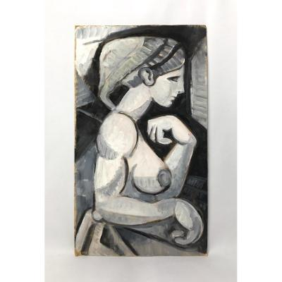 Peinture Femme Du Sud Noir Et Blanc