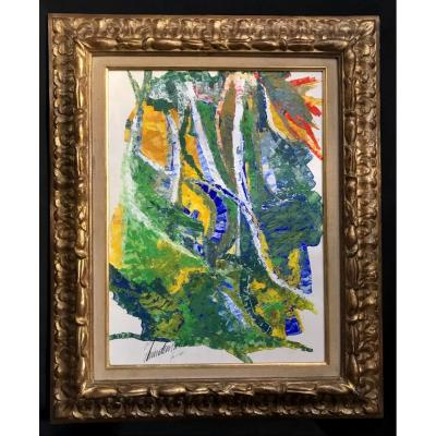 Abstract Painting By Lindemann Year 1965