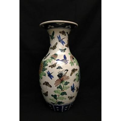 Vase En Faïence Libellules