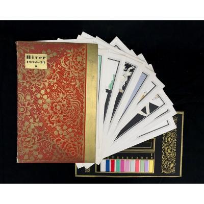 Rare Catalogue Complet De 20 Croquis d'Une Collection De Robes Du Soir