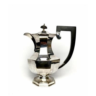 Regency Style Cut-pans Coffee Maker In Silver Metal