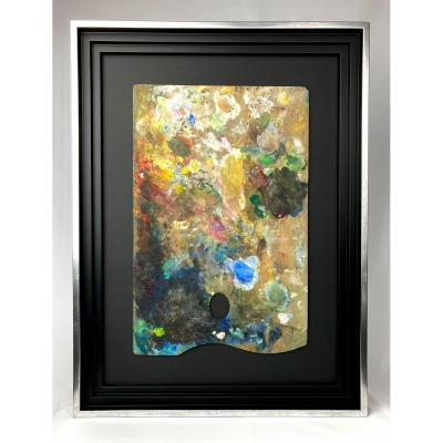 Abstract Painting Representing A Painter's Palette Early XX Eme