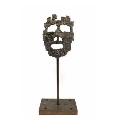 Sculpture Etude De Visage Dans Le Goût De César (césar Baldaccini 1921-1998)