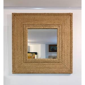 Large Square Rope Mirror In The Taste Of Audoux-minet