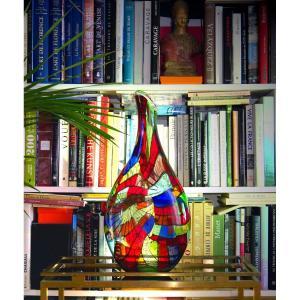 Important Vase De Murano En Hommage à Miró