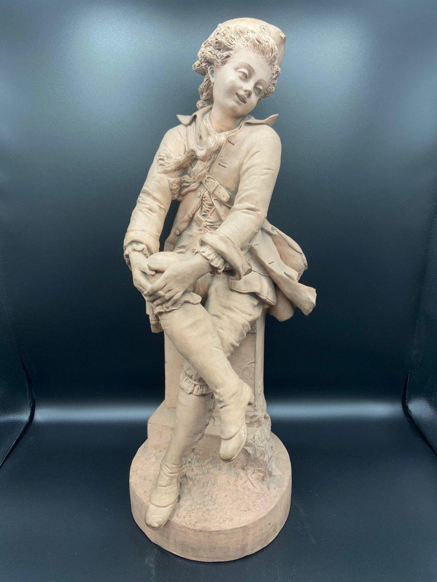 Terracotta Gentleman Escribe