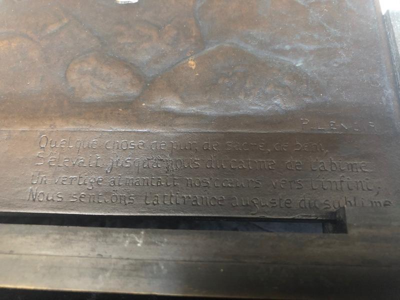 Plaque Bronze Pierre Lenoir L'infini-photo-3
