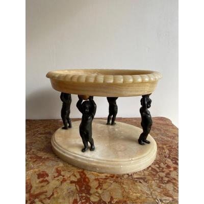 Center Table Puttos Alabaster