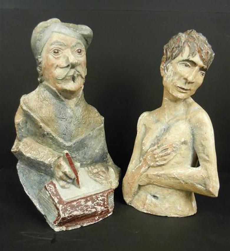 Ancien travail d' Art Populaire Couple de personnages