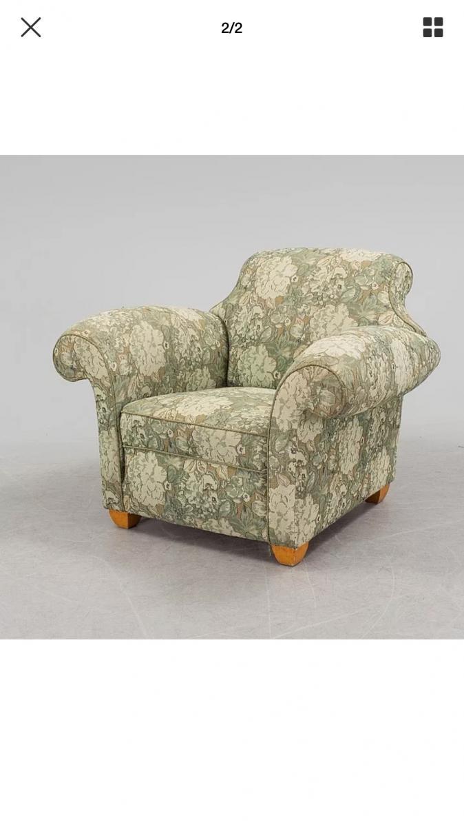 Club Baroque Style Armchair, Art Deco Period, Circa 1940