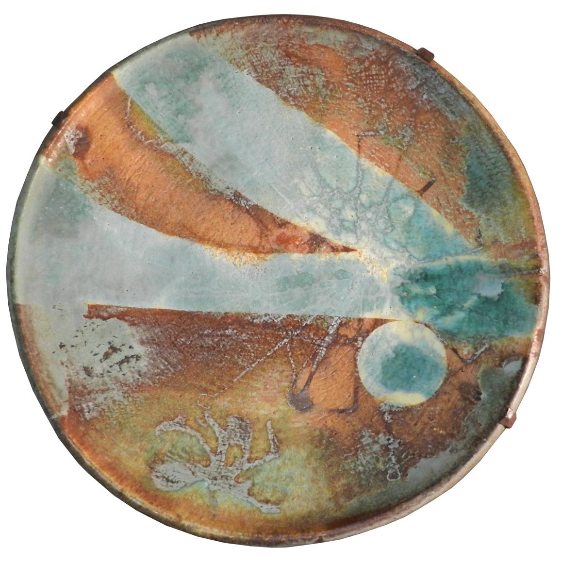 Madoura, Tres Grand Plat En Ceramique, Attribué à Suzanne Ramie