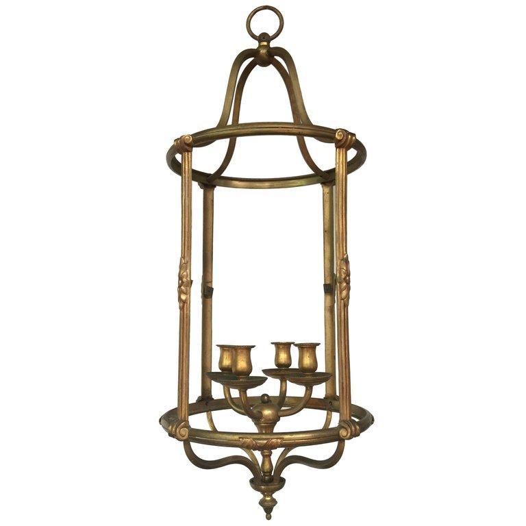 Ancienne Lanterne En Bronze Circa 1930/1950
