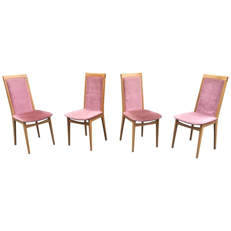 4 Vintage Chairs Circa 1960, Very Good Condition