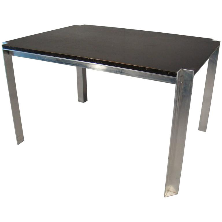 Georges Frydman, Aluminum And Wood Table Circa 1970, Efa Edition